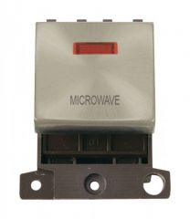 MD023SCMW 20A DP Ingot Switch With Neon Satin Chrome Microwave