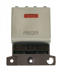 MD023SSFZ 20A DP Ingot Switch With Neon - Stainless Steel - Freezer