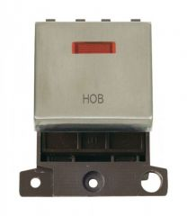 MD023SSHB 20A DP Ingot Switch With Neon - Stainless Steel - Hob