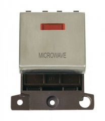 MD023SSMW 20A DP Ingot Switch With Neon - Stainless Steel - Microwave