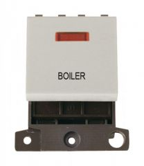 MD023WHBL 20A DP Switch With Neon White Boiler