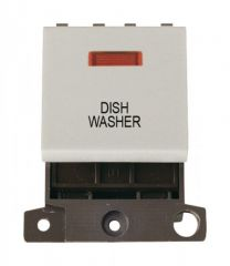 MD023WHDW 20A DP Switch With Neon White Dishwasher