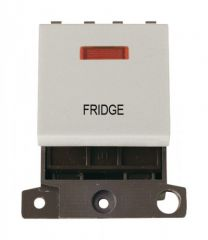 MD023WHFD 20A DP Switch With Neon White Fridge