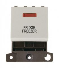 MD023WHFF 20A DP Switch With Neon White Fridge Freezer