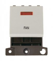 MD023WHFN 20A DP Switch With Neon White Fan