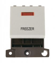 MD023WHFZ 20A DP Switch With Neon White Freezer