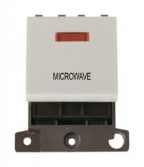 MD023WHMW 20A DP Switch With Neon White Microwave