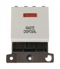 MD023WHWD 20A DP Switch With Neon White Waste Disposal