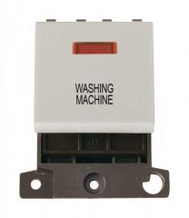 MD023WHWM 20A DP Switch With Neon White Washing Machine