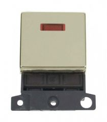 MD023BR 20A DP Ingot Switch With Neon Brass