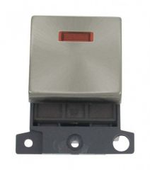 MD023BS 20A DP Ingot Switch With Neon Brushed Stainless Steel