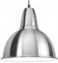 Scolmore PS020AL E27 60W Dome Aluminium Pendant