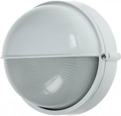 Scolmore Ovia OL425WH IP54 Round Die Cast Aluminium Bulkhead With Eyelid White