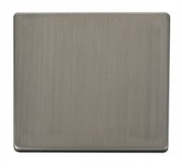 Scolmore Click Definity SCP060SS 1 Gang Blank Plate Cover Plate Stainless Steel