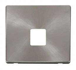 Scolmore Click Definity SCP120BS Single Telephone Socket Cover Plate Brushed Stainless
