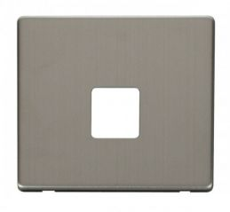 Scolmore Click Definity SCP120SS Single Telephone Socket Cover Plate Stainless Steel