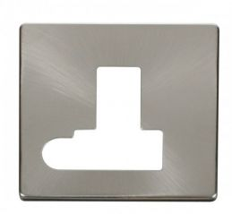 Scolmore Click Definity SCP151BS Switched Connection Unit With Flex Outlet Cover Plate Brushed Stainless