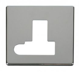 Scolmore Click Definity SCP151CH Switched Connection Unit With Flex Outlet Cover Plate Chrome