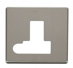 Scolmore Click Definity SCP151SS Switched Connection Unit With Flex Outlet Cover Plate Stainless Steel