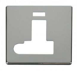 Scolmore Click Definity SCP152CH Switched Connection Unit With Flex Outlet & Neon Cover Plate Chrome