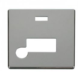 Scolmore Click Definity SCP153CH Connection Unit With Flex Outlet & Neon Cover Plate Chrome