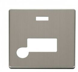 Scolmore Click Definity SCP153SS Connection Unit With Flex Outlet & Neon Cover Plate Stainless Steel