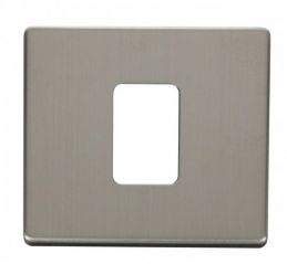 Scolmore Click Definity SCP200SS 45A 1 Gang Plate Switch Cover Plate Stainless Steel