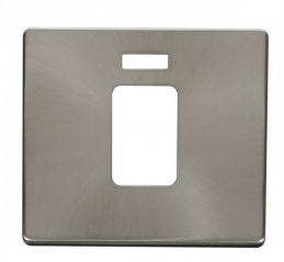 Scolmore Click Definity SCP201BS 45A 1 Gang Plate Switch With Neon Cover Plate Brushed Stainless