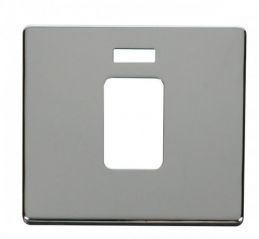 Scolmore Click Definity SCP201CH 45A 1 Gang Plate Switch With Neon Cover Plate Chrome