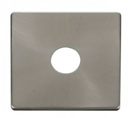 Scolmore Click Definity SCP221BS 1 Gang Toggle Switch Cover Plate Brushed Stainless