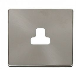 Scolmore Click Definity SCP239BS 2A Round Pin Socket Outlet Cover Plate Brushed Stainless