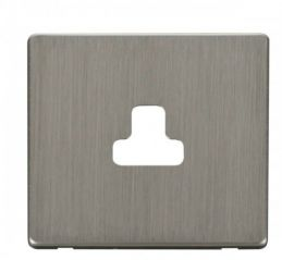 Scolmore Click Definity SCP239SS 2A Round Pin Socket Outlet Cover Plate Stainless Steel