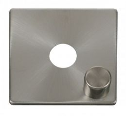 Scolmore Click Definity SCP241BS 1 Gang Dimmer Switch Cover Plate Brushed Stainless