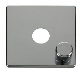 Scolmore Click Definity SCP241CH 1 Gang Dimmer Switch Cover Plate Chrome