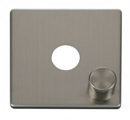 Scolmore Click Definity SCP241SS 1 Gang Dimmer Switch Cover Plate Stainless Steel