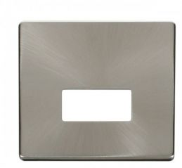 Scolmore Click Definity SCP250BS Connection Unit Cover Plate Brushed Stainless