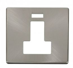 Scolmore Click Definity SCP252BS Switched Connection Unit With Neon Cover Plate Brushed Stainless
