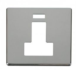 Scolmore Click Definity SCP252CH Switched Connection Unit With Neon Cover Plate Chrome