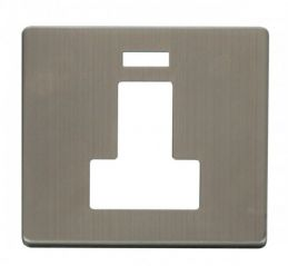 Scolmore Click Definity SCP252SS Switched Connection Unit With Neon Cover Plate Stainless Steel
