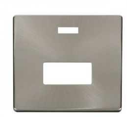 Scolmore Click Definity SCP253BS Connection Unit With Neon Cover Plate Brushed Stainless