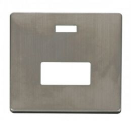 Scolmore Click Definity SCP253SS Connection Unit With Neon Cover Plate Stainless Steel