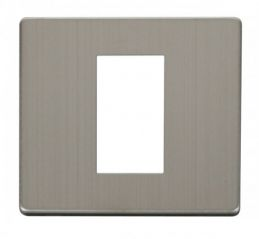 Scolmore Click Definity SCP310SS 1 Gang Plate Single Media Module Cover Plate Stainless Steel