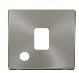 Scolmore Click Definity SCP322BS 20A DP Switch With Flex Outlet Cover Plate Brushed Stainless