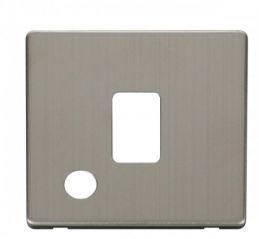 Scolmore Click Definity SCP322SS 20A DP Switch With Flex Outlet Cover Plate Stainless Steel