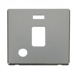Scolmore Click Definity SCP323CH 20A DP Switch With Flex Outlet & Neon Cover Plate Chrome