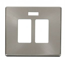 Scolmore Click Definity SCP324BS 20A Sink & Bath Switch With Neon Cover Plate Brushed Stainless