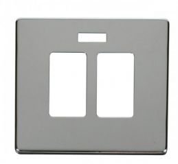 Scolmore Click Definity SCP324CH 20A Sink & Bath Switch With Neon Cover Plate Chrome