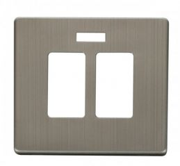 Scolmore Click Definity SCP324SS 20A Sink & Bath Switch With Neon Cover Plate Stainless Steel