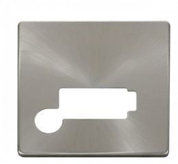 Scolmore Click Definity SCP350BS Connection Unit With Flex Outlet (Lockable) Cover Plate Brushed Stainless