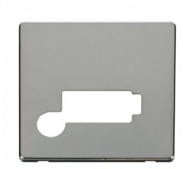 Scolmore Click Definity SCP350CH Connection Unit With Flex Outlet (Lockable) Cover Plate Chrome
